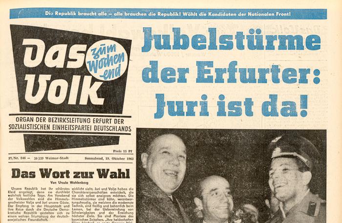 Titelblatt Das Volk vom 19. Oktober 1967