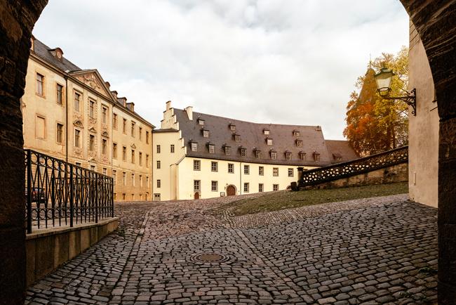 Blick in den Altenburger Schlosshof Richtung Junkerei