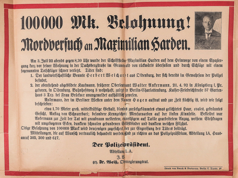 Steckbrief mit Bild des Opfer und roter Umrahmung