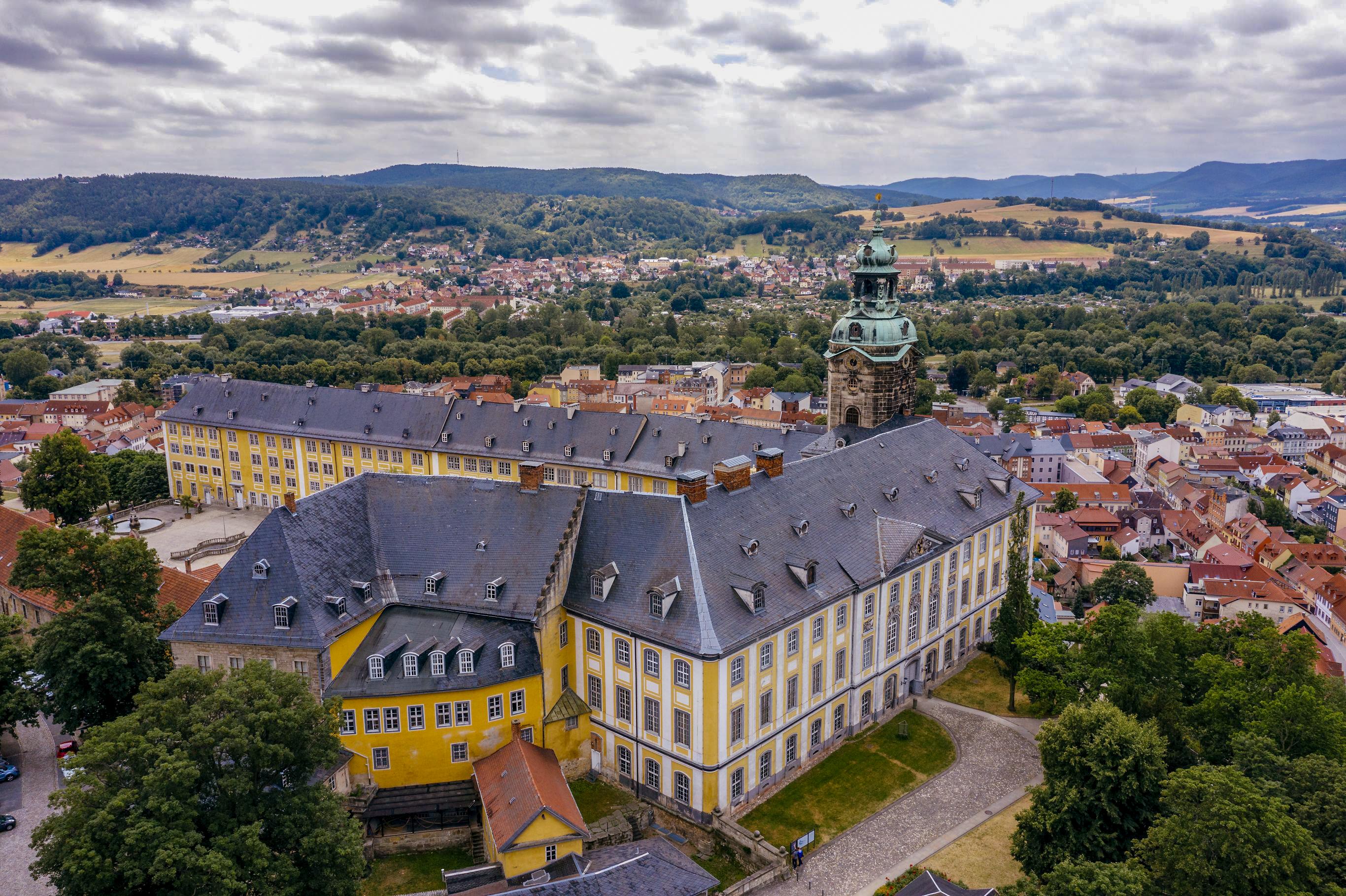 Luftaufnahme der Heidecksburg