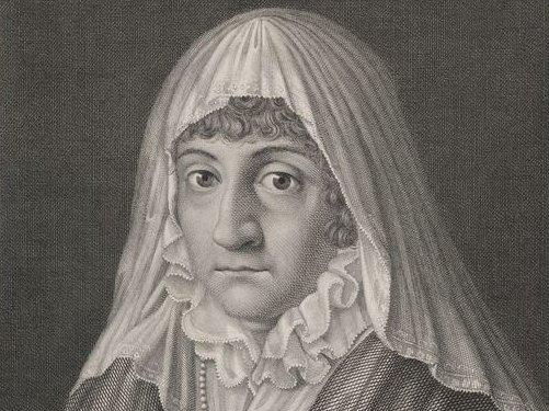 Anna Amalia mit Trauerschleier
