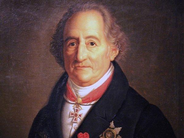 Portrait Goethes mit verschiedenen Orden