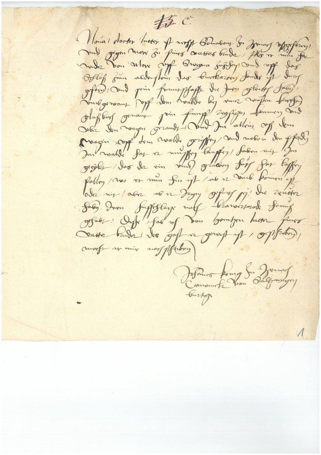 altes vergilbtes Dokument mit sehr alter Schrift