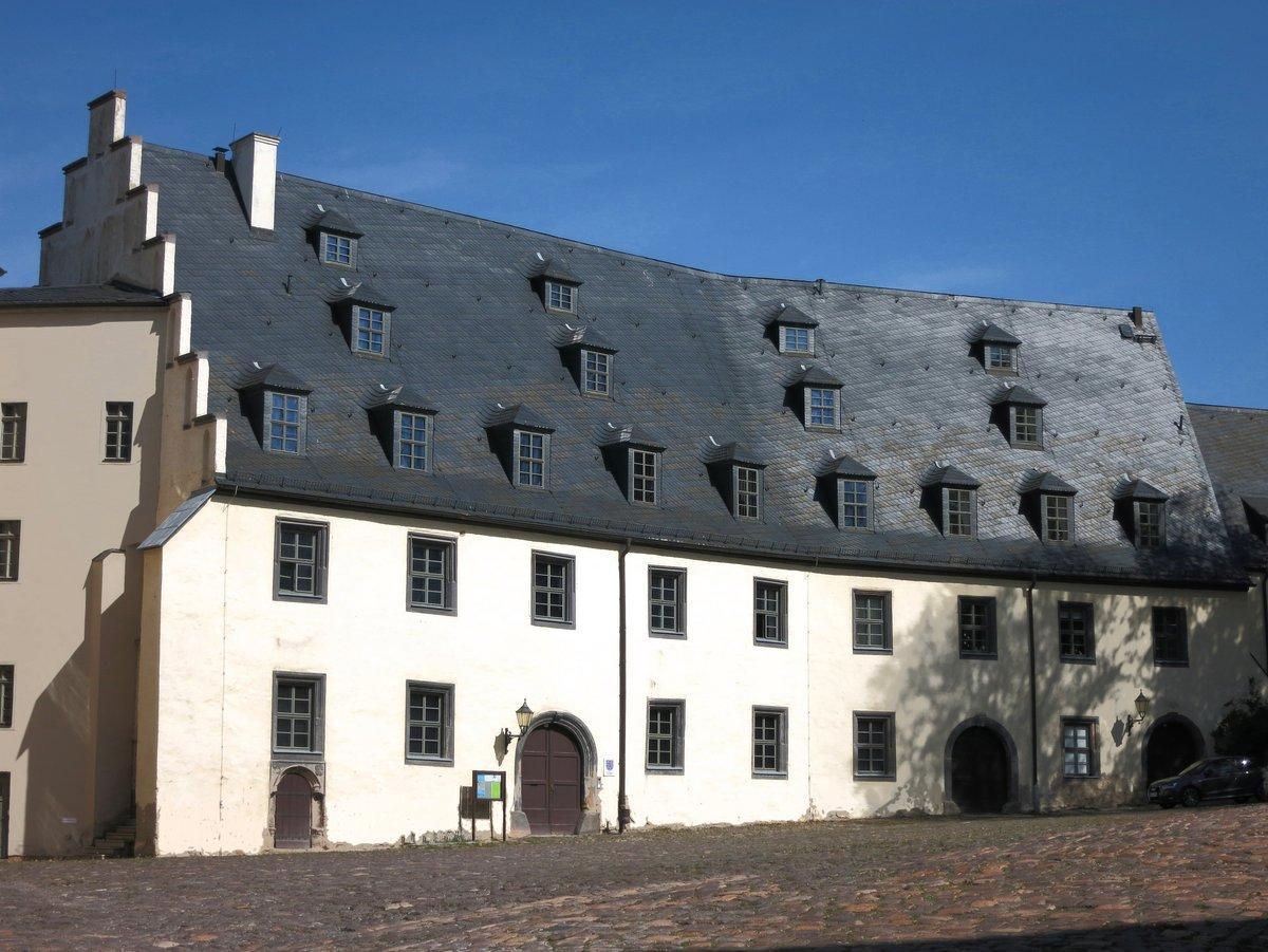 Außenansicht des Sitzes des Staatsarchivs Altenburg - die Junkerei im Altenburger Schloss