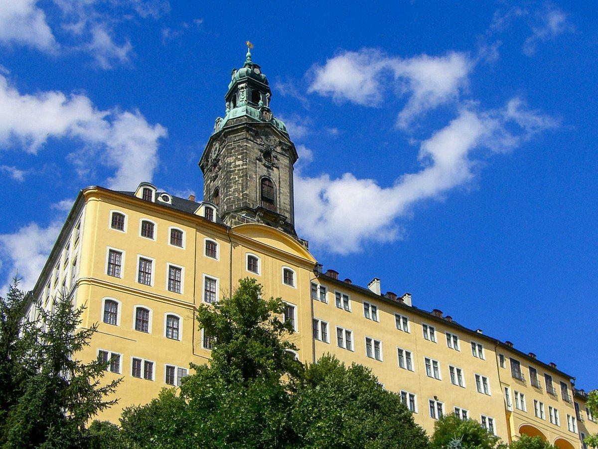 Ansicht der Heidecksburg vor blauem Himmel